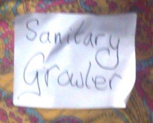 sanitary growler